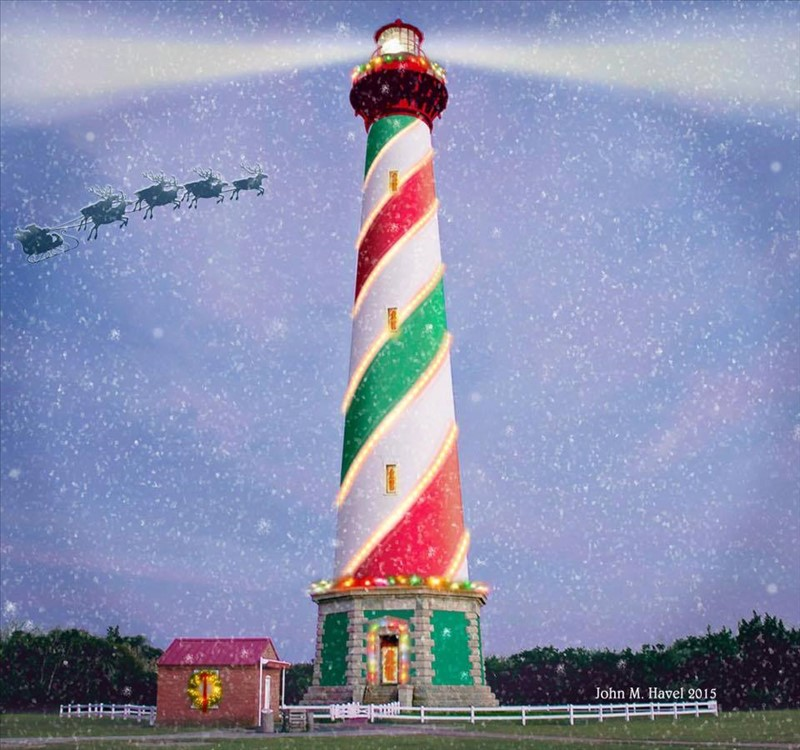 Hatteras Christmas lighthouse found on Facebook. | OBX Connection ...